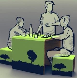 707 – Camping, mesa e bancos