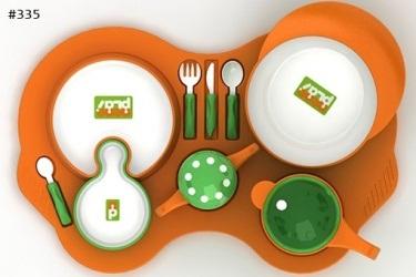 335 - sistema de utensílios para comer nené plai