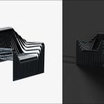 6498 - Stripe Armchair