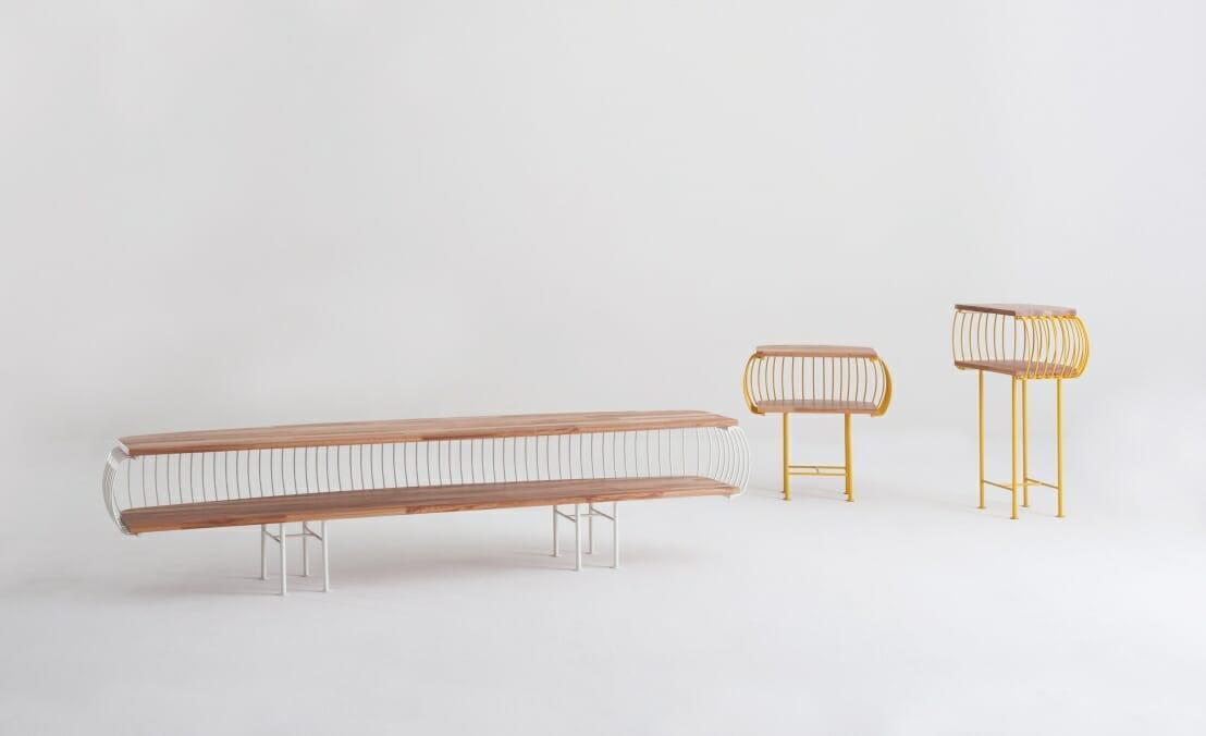 Birdcage Rack – Design de Carlo Nicola, Agustín Menini e Silvana Nallem, fabricado por Punto Móbile Indústria de Móveis/ Garibaldi (RS)